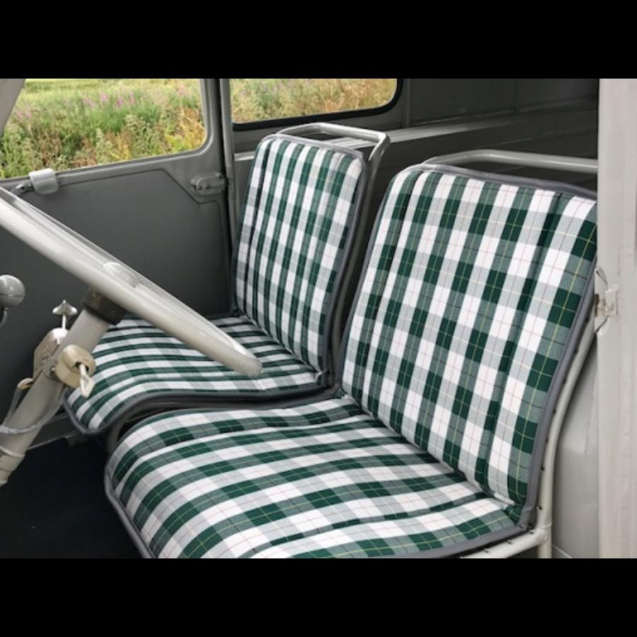 Original Sitzbezug Sitz Stoff grün Raute (Exakte Kopie von Original Schottenkaro) Jahre '50'60 Citroën 2CV-1
