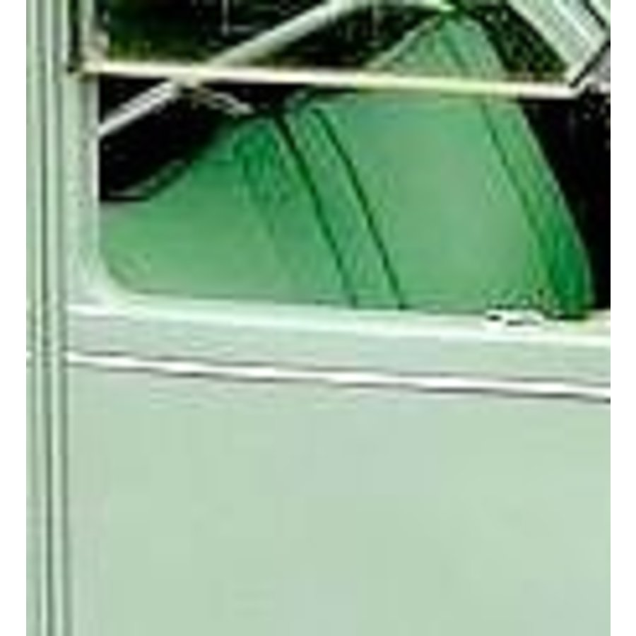 Original seat cover set for seat in green striped cloth (Exact Copie of the Original Cloth!) years '50 '60 Citroën 2CV-3