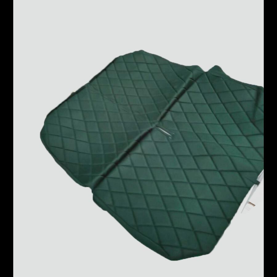 Originele hoes set achterbank groene stof Charleston Citroën 2CV-2