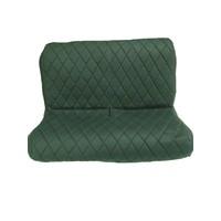 thumb-Original seat cover set for rear bench in green cloth Charleston Citroën 2CV-4