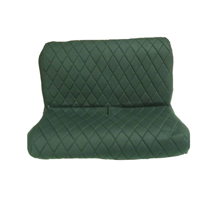 Original seat cover set for rear bench in green cloth Charleston Citroën 2CV-4