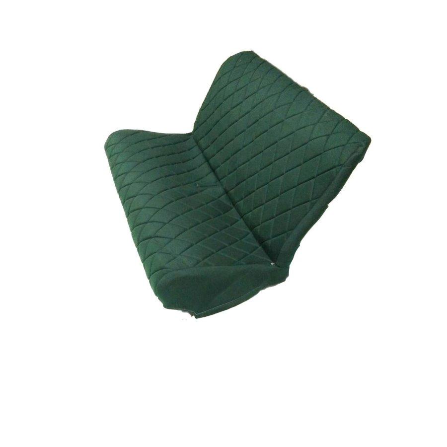 Original seat cover set for rear bench in green cloth Charleston Citroën 2CV-6