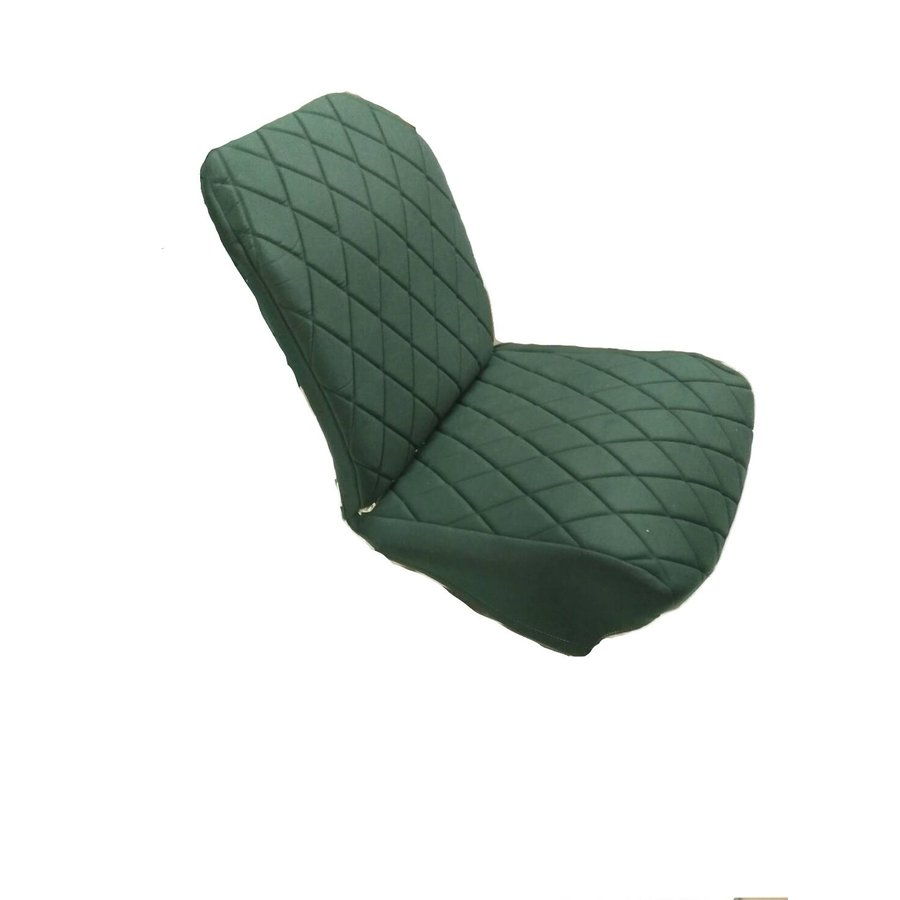 Original seat cover set for front R seat (2 round angles) in green cloth Charleston Citroën 2CV-2