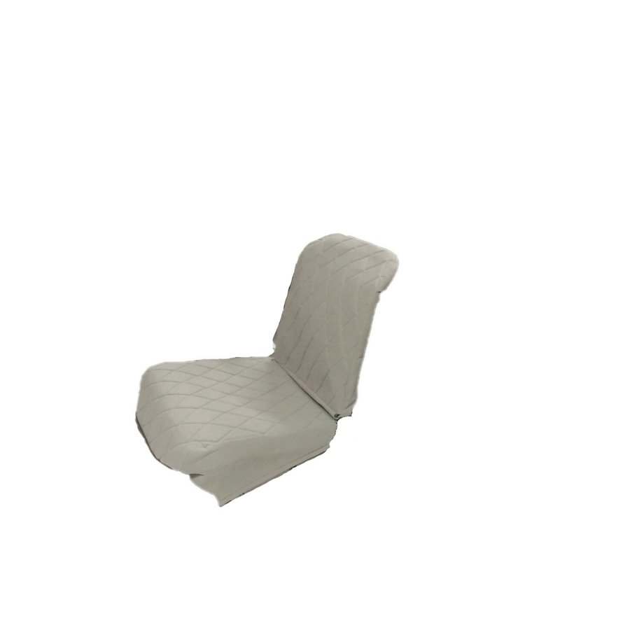 Original seat cover set for front L seat (2 round angles) in gray cloth Charleston Citroën 2CV-1