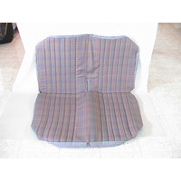 thumb-Original seat cover set for rear bench gray cloth used in last produced Citroën 2CV-1