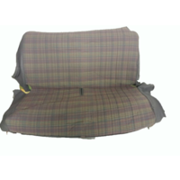 thumb-Original seat cover set for rear bench gray cloth used in last produced Citroën 2CV-6
