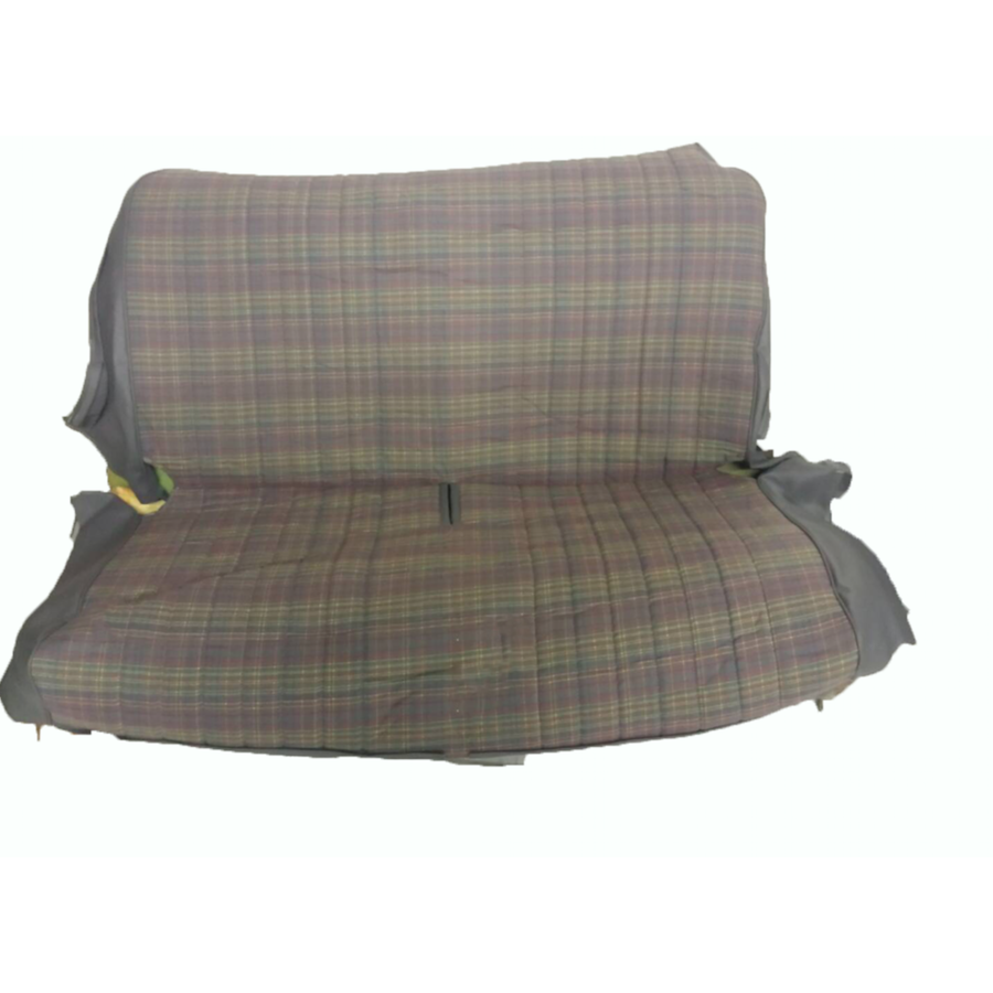 Original seat cover set for rear bench gray cloth used in last produced Citroën 2CV-6