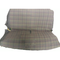 thumb-Original seat cover set for rear bench gray cloth used in last produced Citroën 2CV-8