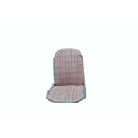thumb-Original seat cover set for front R seat (2 round angles) gray cloth used in last produced Citroën 2CV-4