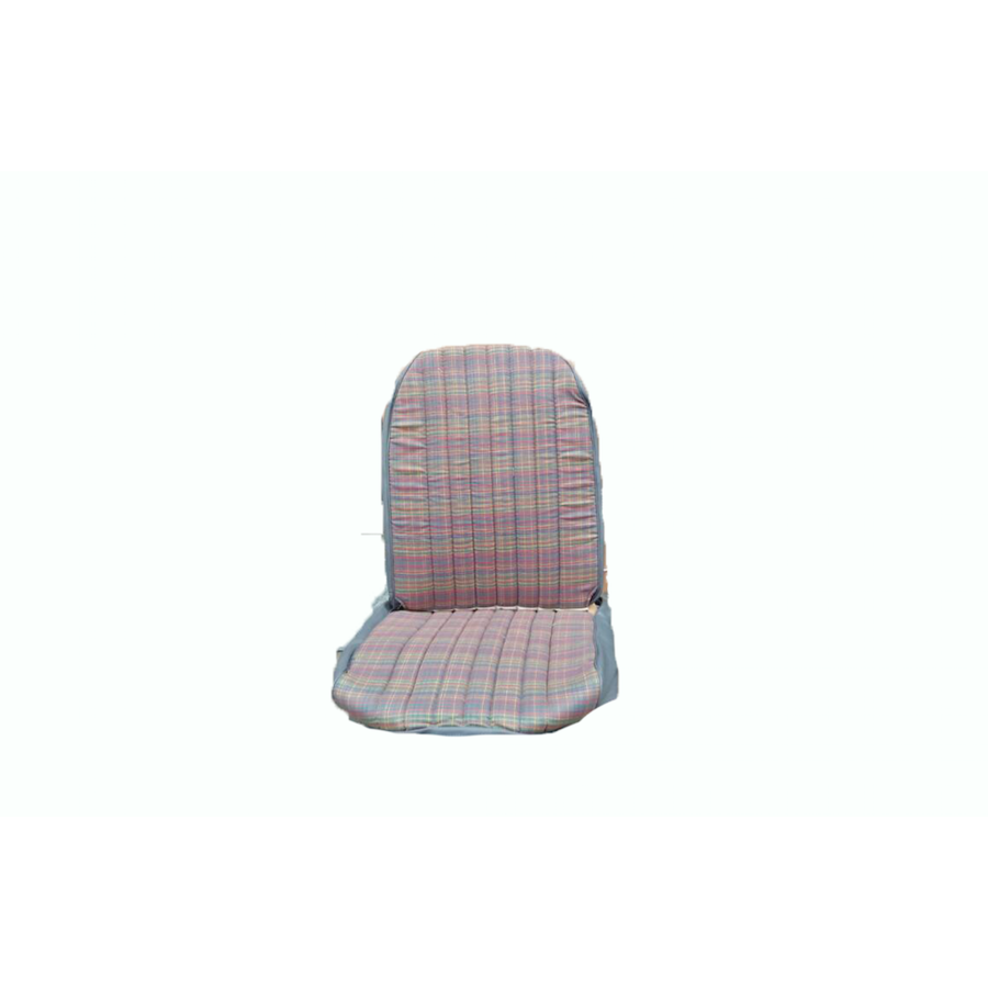 Original seat cover set for front R seat (2 round angles) gray cloth used in last produced Citroën 2CV-4