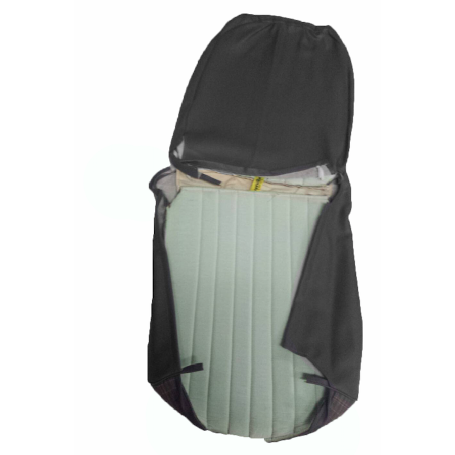 Original seat cover set for front R seat (2 round angles) gray cloth used in last produced Citroën 2CV-5