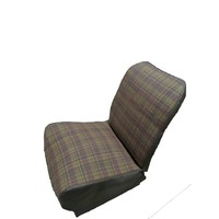 thumb-Original seat cover set for front L seat (2 round angles) gray cloth used in last produced Citroën 2CV-3
