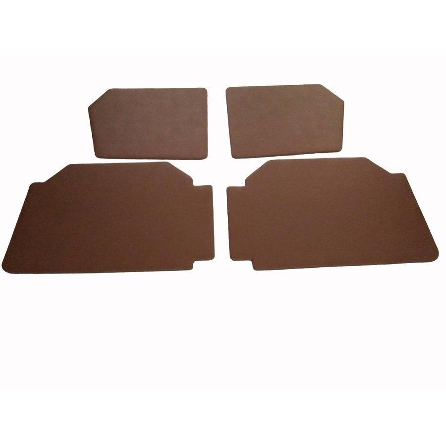 Set of 4 door panels in brown leatherette (without plastic upper part) Citroën 2CV-1