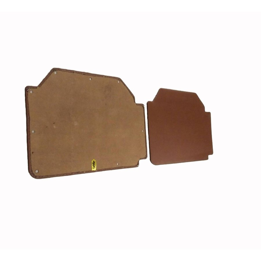 Set of 4 door panels in brown leatherette (without plastic upper part) Citroën 2CV-2