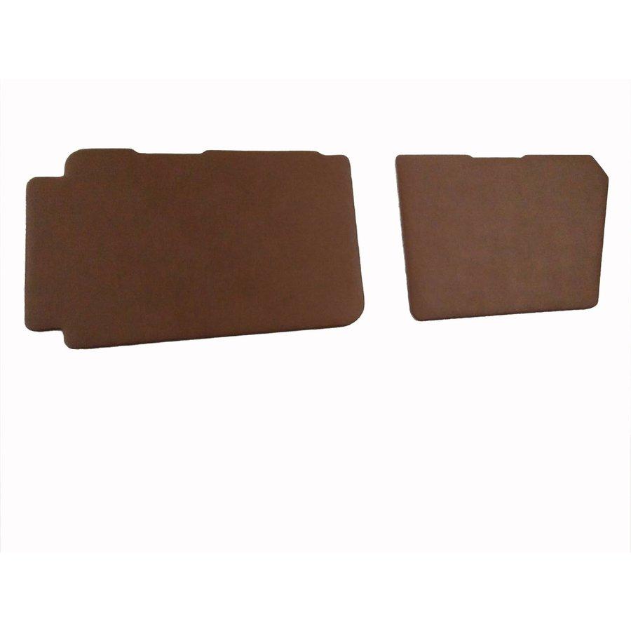 Set of 4 door panels in brown leatherette (with plastic upper part) Citroën 2CV-5
