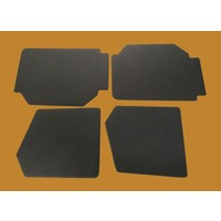 thumb-Set of 4 door panels in black leatherette (without plastic upper part) Citroën 2CV-3