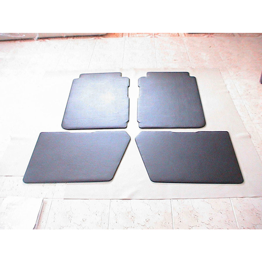 Set of 4 door panels in black leatherette (with plastic upper part) Citroën 2CV-1