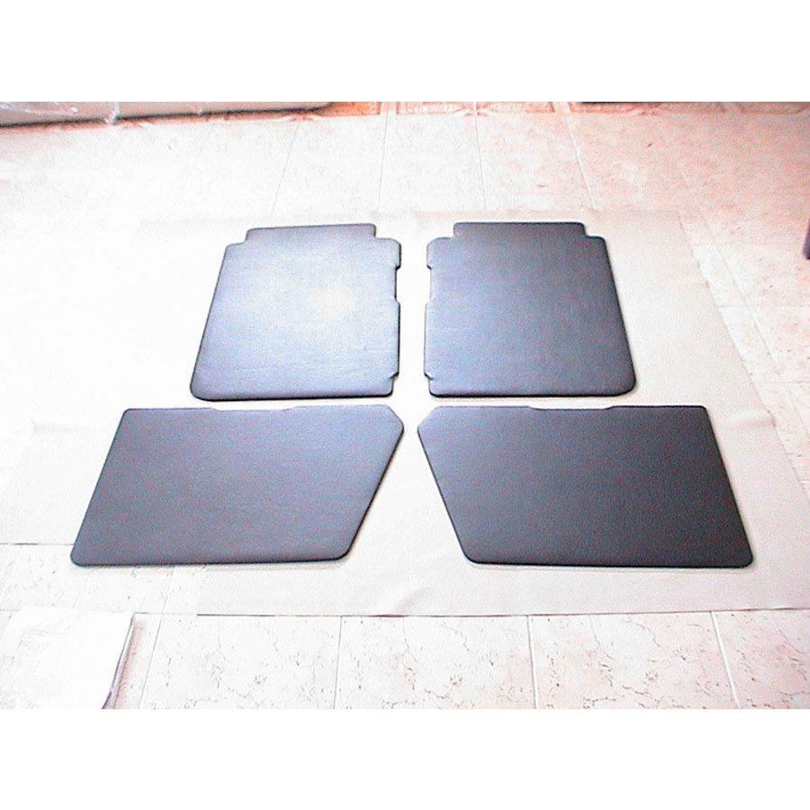 Set of 4 door panels in black leatherette (with plastic upper part) Citroën 2CV-2