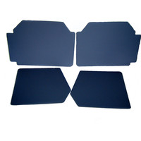 thumb-Set of 4 door panels in gray leatherette (without plastic upper part) Citroën 2CV-1