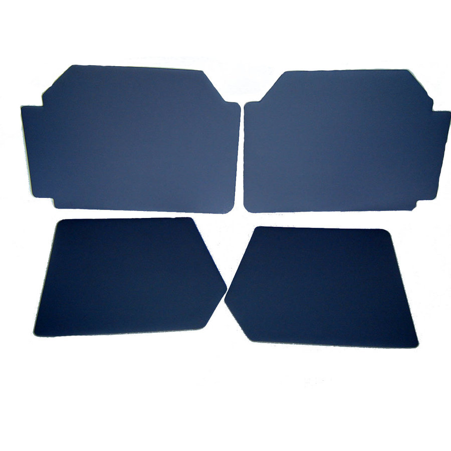 Set of 4 door panels in gray leatherette (without plastic upper part) Citroën 2CV-2