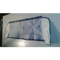 thumb-Trimming for rear window shelf (transat/france 3) blue leatherette Citroën 2CV-3