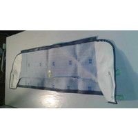 thumb-Trimming for rear window shelf (transat/france 3) blue leatherette Citroën 2CV-4