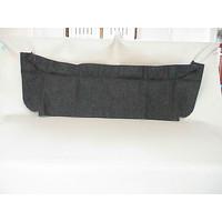 thumb-Trimming for rear window shelf black heavy cloth Citroën 2CV-1