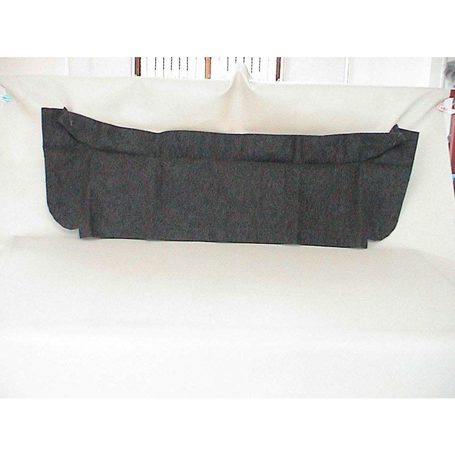 Trimming for rear window shelf black heavy cloth Citroën 2CV-1