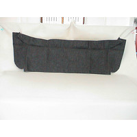 thumb-Trimming for rear window shelf black heavy cloth Citroën 2CV-2