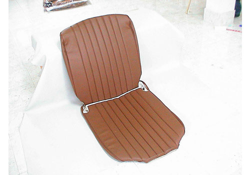 Original seat cover set for front seat in brown leatherette 3 rd model Citroën HY