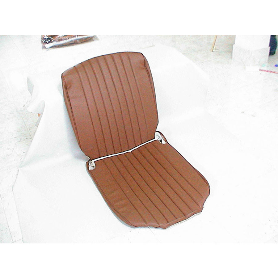 Original seat cover set for front seat in brown leatherette 3 rd model Citroën HY-1
