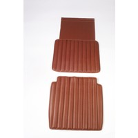 Original seat cover set for front seat in brown leatherette second model Citroën HY
