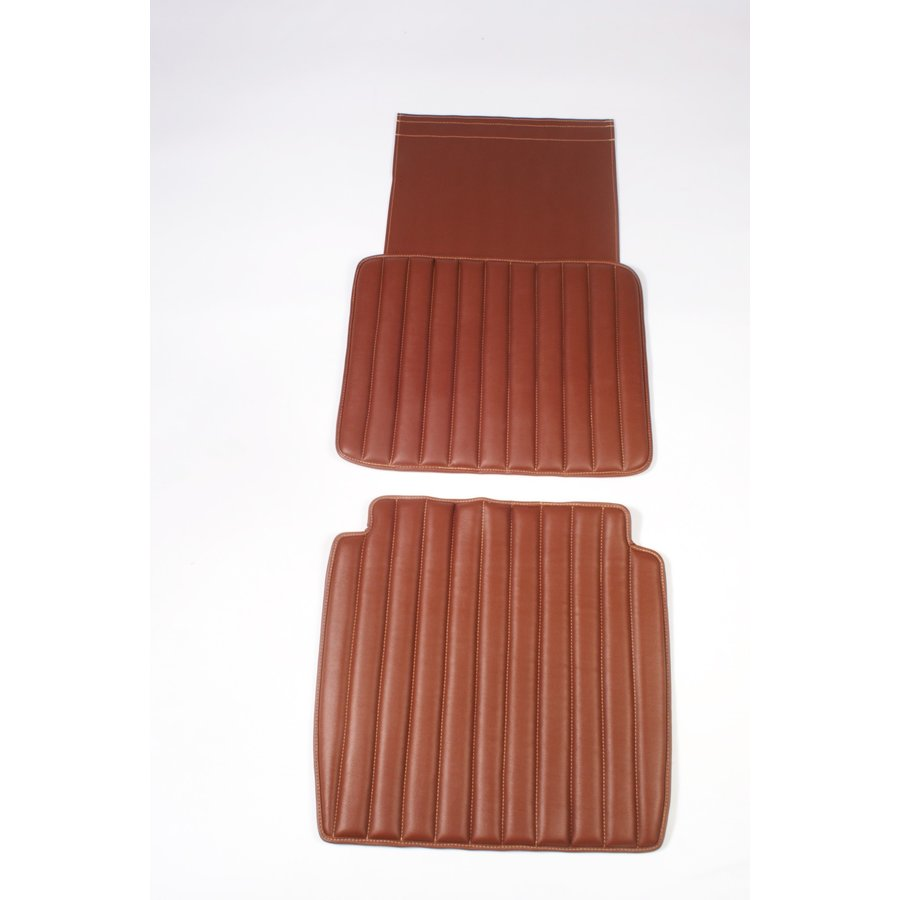 Original seat cover set for front seat in brown leatherette second model Citroën HY-1