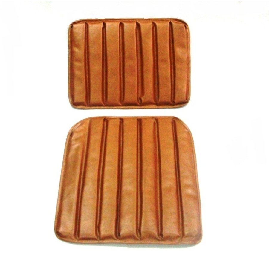 Original seat cover set for front seat in brown leatherette 1 st model Citroën HY-1