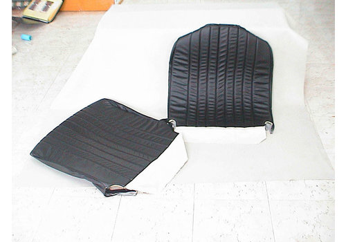 Original seat cover set for front seat in black leatherette 3 rd type Citroën HY