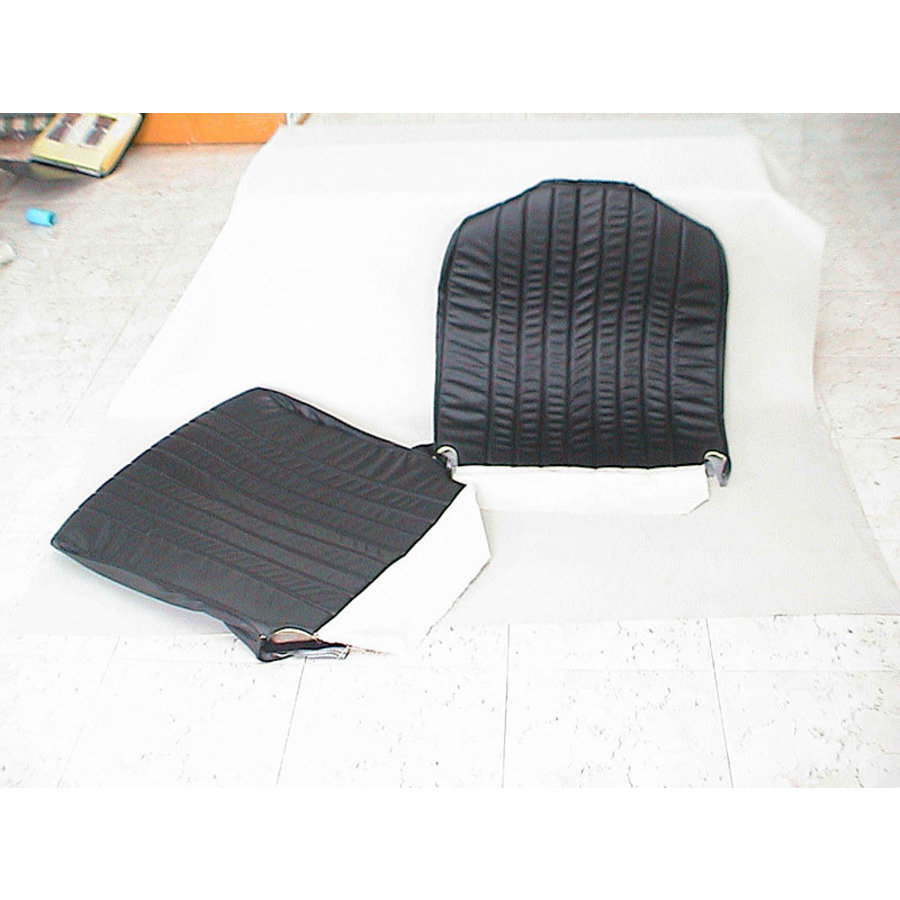 Original seat cover set for front seat in black leatherette 3 rd type Citroën HY-1