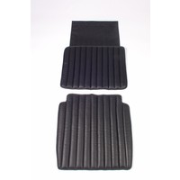 thumb-Original seat cover set for front seat in black leatherette second model Citroën HY-1