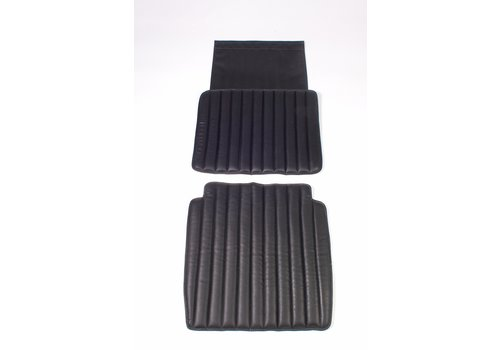 Original seat cover set for front seat in black leatherette second model Citroën HY