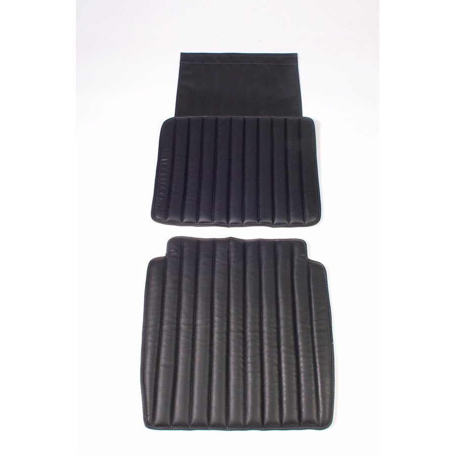 Original seat cover set for front seat in black leatherette second model Citroën HY-1