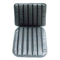 Original seat cover set for front seat in black leatherette 1 st model Citroën HY