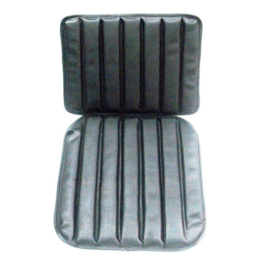 Original seat cover set for front seat in black leatherette 1 st model Citroën HY-1