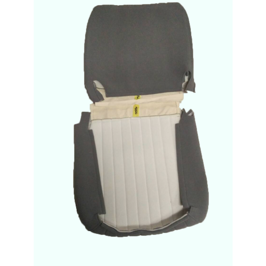 Original seat cover set for front seat in gray cloth (cool in the summer!) Citroën HY-5