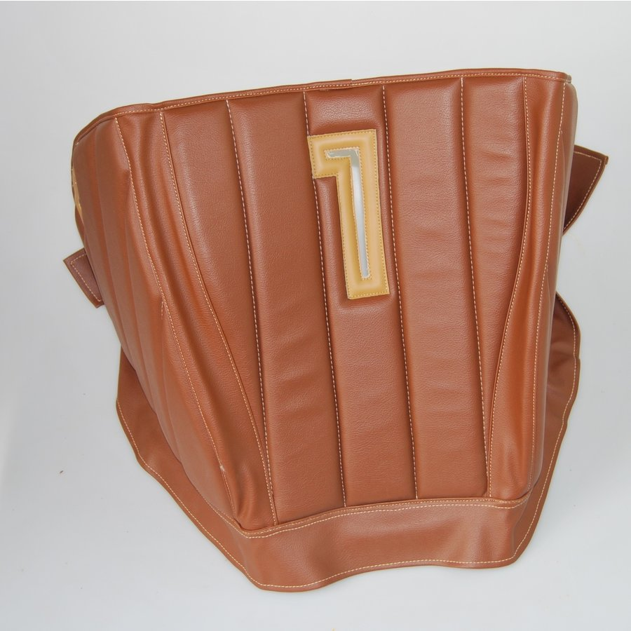 Sound proofing cover recovering the motor separation unit brown leatherette row stiching Citroën HY-1