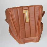thumb-Sound proofing cover recovering the motor separation unit brown leatherette row stiching Citroën HY-2
