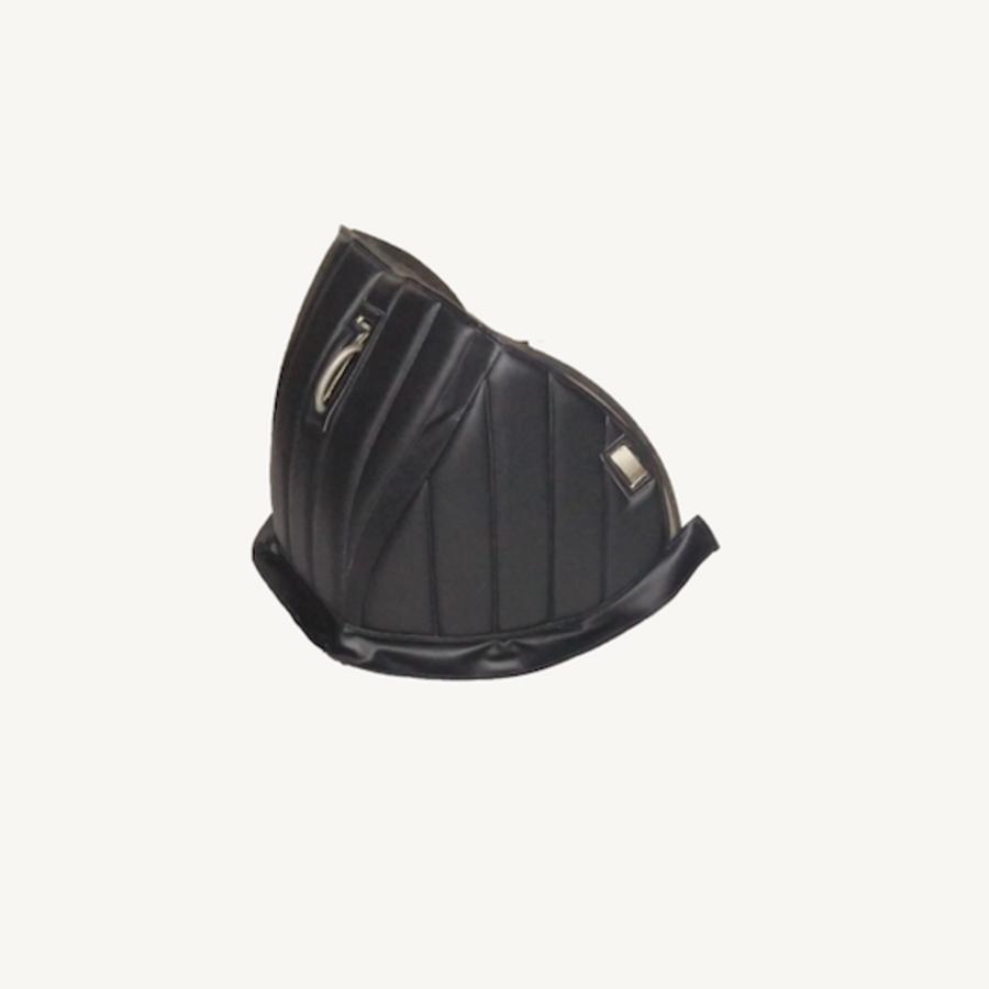 Dämmverkleidung für Stirnwand schwarzes Kunstleder mit Bahnen Citroën HY-3