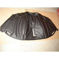 Sound proofing cover recovering the motor separation unit black leatherette Citroën HY