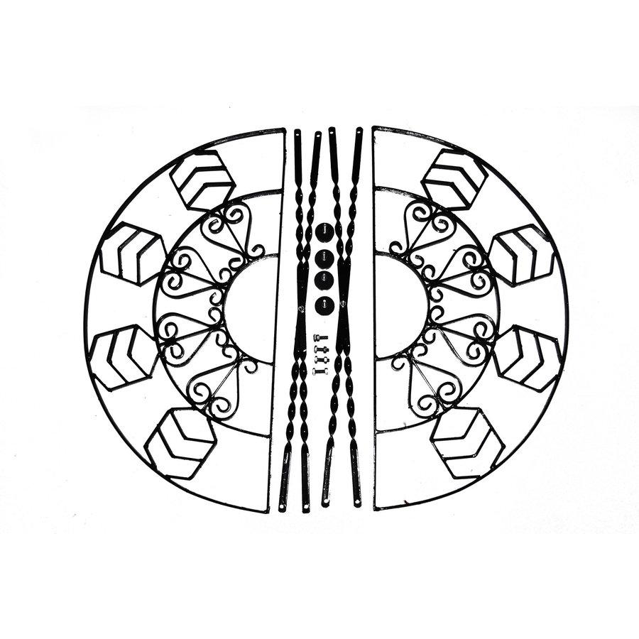 Sitzuntergestell Satz Eisen schwarz für Ausstellung Citroën-1