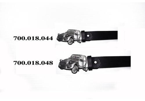 Ledergürtel mit Schnalle Größe 44 (inch)