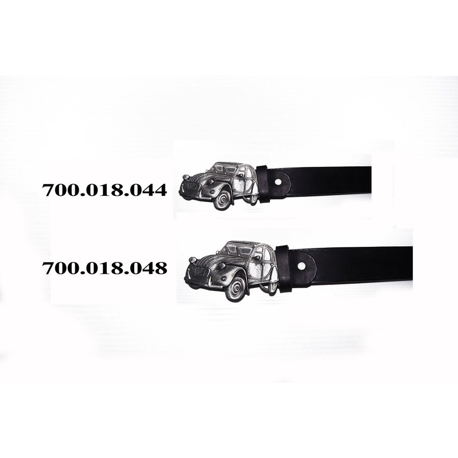 Ledergürtel mit Schnalle Größe 44 (inch)-1