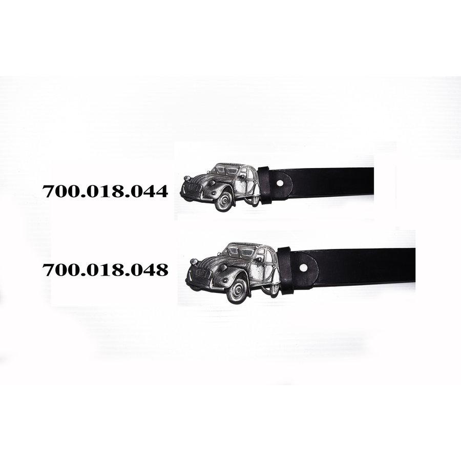 Ledergürtel mit Schnalle Größe 48 (inch)-1